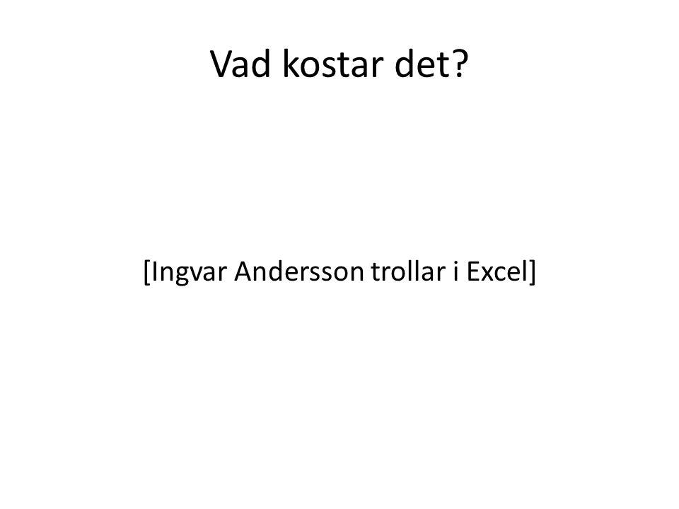 [Ingvar Andersson trollar i Excel]